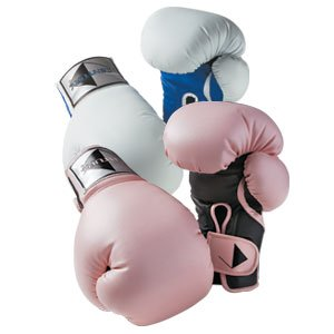 Century Womens Boxing Gloves - Pink/Black & White/Blue