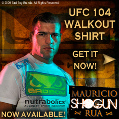 Get the Shogun UFC104 Walk-Out Shirt Here
