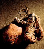 old boxing shoe