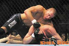 Georges St-Pierre with back control
